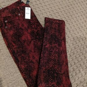 BRAND NEW - Pants, Red, Snake Print (size 6)